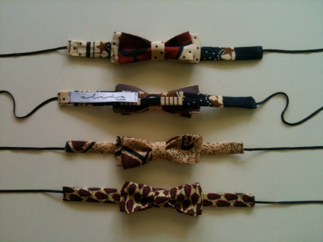 Pajaritas africanas African bow ties 15€