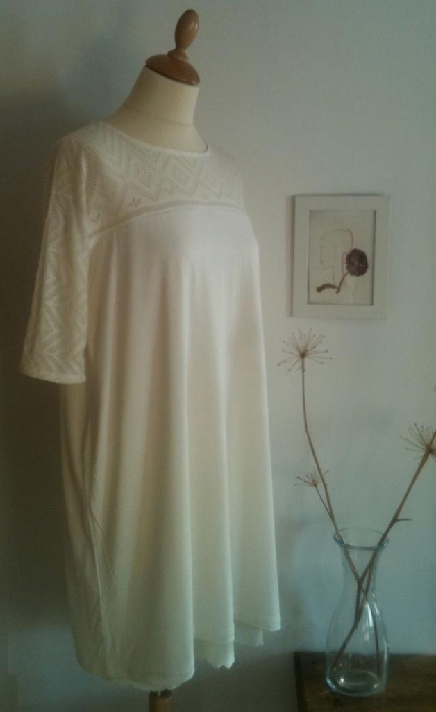 Vestido encaje con mangas Lace sleeve Dress 70€